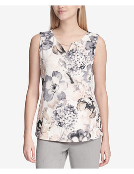 Embellished Chain Detail Top by Calvin Klein