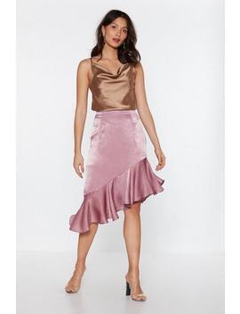 Ruffle Asymmetric Midi Skirt by Nasty Gal