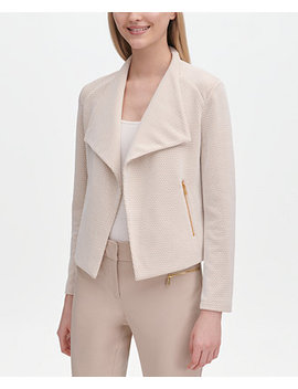 Jacquard Open Front Jacket by Calvin Klein