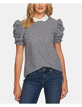 Cotton Round Collar Top by Ce Ce