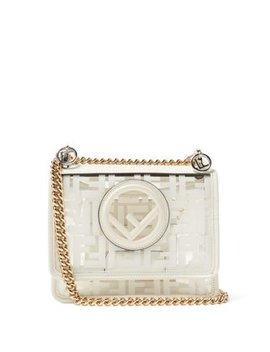 Kan I Small Leather & Pvc Cross Body Bag by Fendi