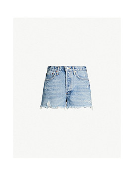 Parker High Rise Denim Shorts by Agolde