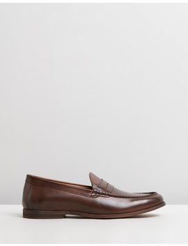 Riley Leather Penny Loafers by Staple Superior