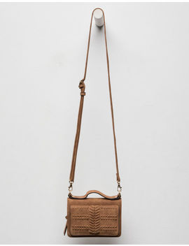 Violet Ray Peyton Whipstitch Cognac Wallet Crossbody Bag by Violet Ray