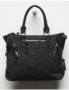 Violet Ray Charli Black Tote Bag by Violet Ray
