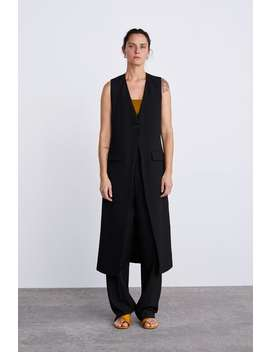 Long Vest With Vents  View All Knitwear Woman by Zara