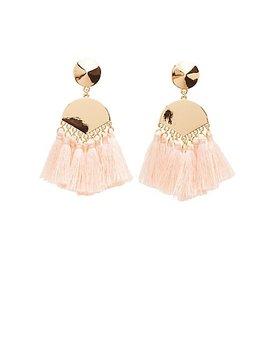 Tassel Disc Drop Earrings by Charlotte Russe