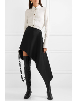 Asymmetric Satin Crepe Skirt by Peter Do