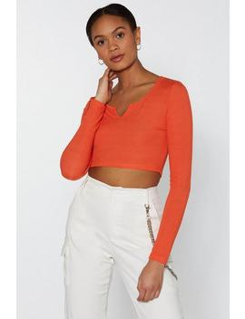 Notch Your Problem Ribbed Crop Top by Nasty Gal