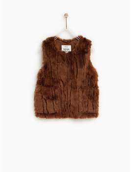Faux Fur Vest  Collectiongirl by Zara