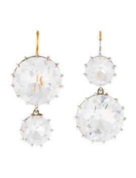 18 K Quartz Drop Earrings by Renee Lewis
