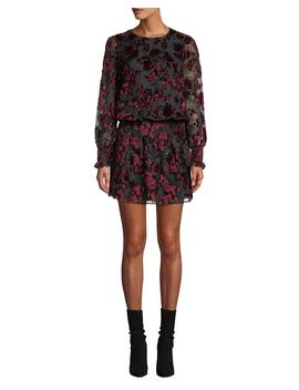 Carmindy Floral Velvet Long Sleeve Short Dress by Parker