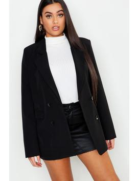 Plus Oversized Double Breasted Blazer by Boohoo