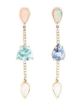 18 K Octavia Multistone Drop Earrings by Shawn Warren