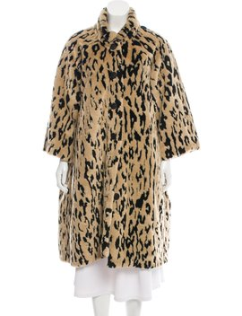 Faux Fur Animal Print Coat by Balenciaga