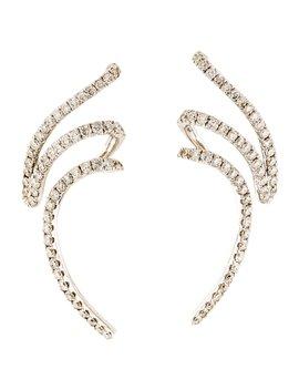 18 K Diamond Mega Swirl Drop Earrings by Graziela
