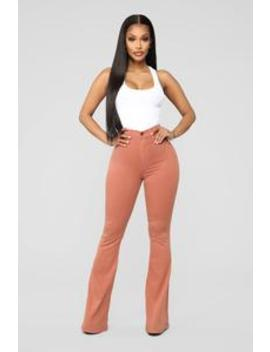 Bell Bottom Blues Jeans   Brown by Fashion Nova