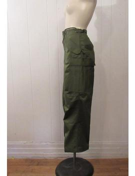 Vintage Pants, High Waisted Pants, 1960s Pants, Cargo Pants, Army Pants, Military Pants, Cotton Pants, Vintage Clothing, 28.5 X 28.5, Nos by Etsy