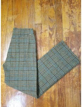 1960's Wool Tweed High Waisted Pants by Etsy