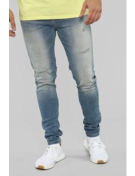 Zeke Skinny Jeans   Vintage Wash by Fashion Nova