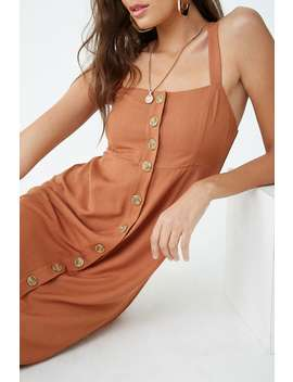 Maxi Button Front Dress by Forever 21