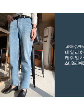 Naning9   Washed Tapered Baggy Jeans by Naning9