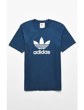 Adidas Navy Trefoil T Shirt by Pacsun