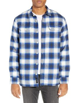 Loomis Plaid Fleece Lined Shirt Jacket by Vans
