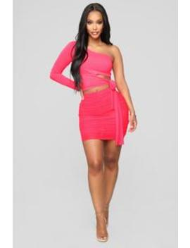 Really Meshed Up Skirt   Neon Pink by Fashion Nova