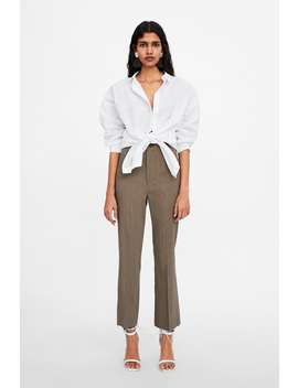 High Waisted Straight Cut Pants  New Inwoman by Zara