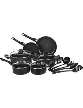 Amazon Basics 15 Piece Non Stick Cookware Set by Amazon Basics