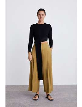 Wide Leg Cropped Pants  New Inwoman by Zara