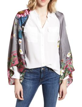 Oracle Floral Silk Cape Scarf by Ted Baker London