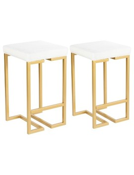 Midas 26 In Contemporary Counter Stool With Cushion   Lumisource by Lumi Source