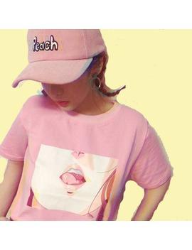 Lip Sexy Aesthetic T Shirt by Aestheti Cat