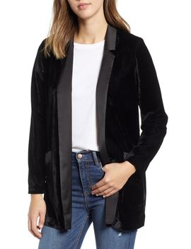Midnight In Paris Velvet Blazer by Bb Dakota