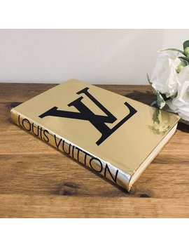 1  Designer Inspired Book Mirrored Gold And Black Louis Vuitton Book   Home Decor   Coffee Table Book by Etsy