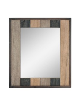 Rectangle Natural Wood Plank Mirror Brown 26 X 24   Stonebriar Collection by Stonebriar Collection