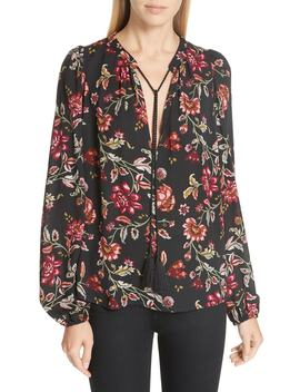 Royan Floral Print Silk Blouse by A.L.C.