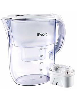 Levoit Water Filter Pitcher, Purifier With Large 10 Cup / 2.5 L, Electronic Filter Indicator, Bpa Free, 5 Layer Filtration For Chlorine, Lead, Heavy Metals And Odor, 2 Year Warranty, Lv110 Wp by Levoit