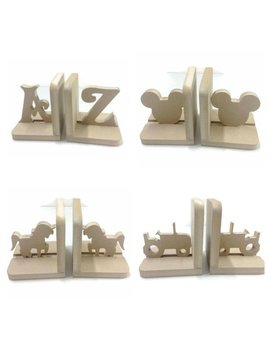 Nursery Boys Girls Childrens Kids Wooden Bookends Book Ends Bedroom Decoration 18mm Mdf by Etsy