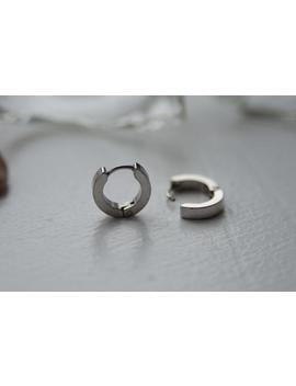 Stainless Steel Surgical Hypoallergenic Steel Circles Men's Hoop Earrings. by Etsy