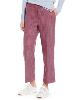 Straight Leg Plaid Pants by 1901