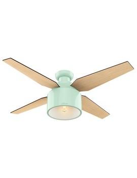"52"" Cranbrook Low Profile Mint Ceiling Fan With Light With Handheld Remote   Hunter Fan by Hunter Fan"