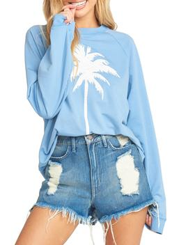 Simon Palm Tree Cotton Blend Sweatshirt by Show Me Your Mumu