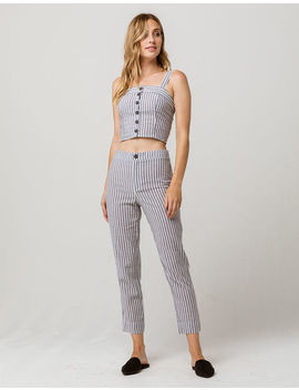 Ivy & Main Stripe Structured Womens Top And Pants Set by Tilly's