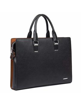 Bostanten Formal Leather Briefcase Shoulder Laptop Business Bag For Men by Bostanten