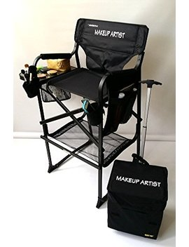 "Oasis 65 Tt Pro New & Improved!! Makeup Artist Professional Tall Chair  Heavy Duty W/Storage Side Bags 2 Brush Holders Bottom Mesh Product 10 Years Warranty  29"" Seat Height by Oasis"