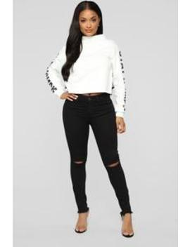 Black Widow High Rise Skinny Jeans   Black by Fashion Nova