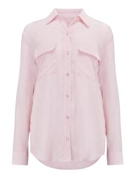 Signature Shirt In Champagne Pink Multi by Trilogy